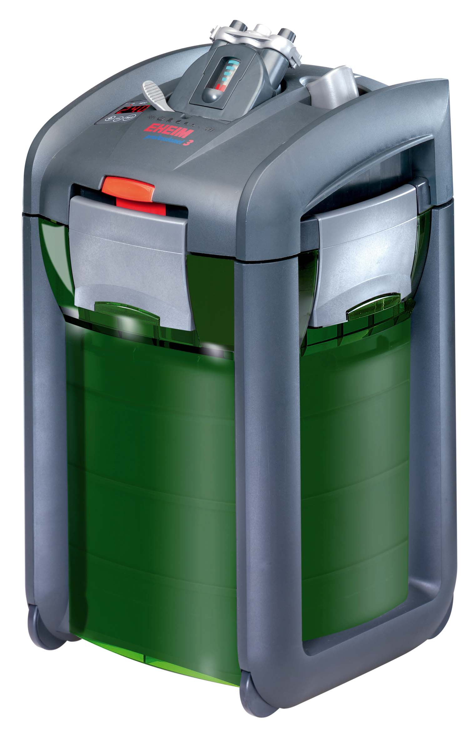 Filter canister with heater