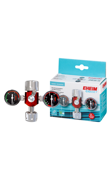 EHEIM pressure reducer with manometer for 500g and 2000g reusable CO2 bottles